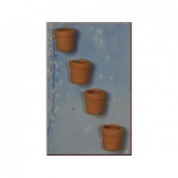 ROSSI ROSA Vasi in terracotta cm.1.5 per presepe