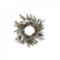 XONE Ghirlanda corona di natale con pigne e ghiaccio 40 cm