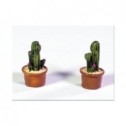 ROSSI ROSA Vaso con pianta resina cm 1,5x1,5x3