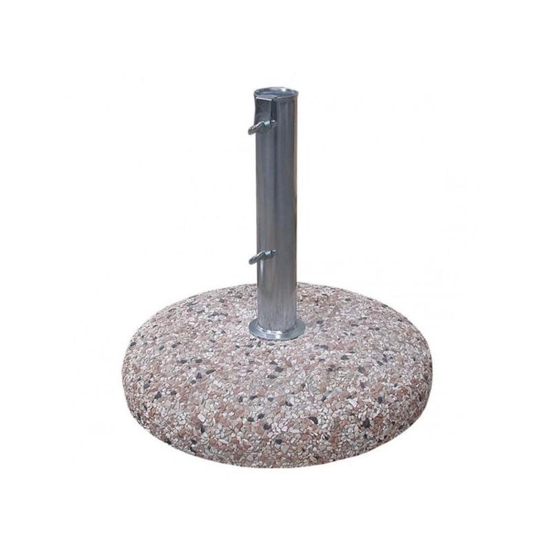 CEMENTI VIBRATI Base ombrellone graniglia d.60 kg 55 con palo d.52 interno