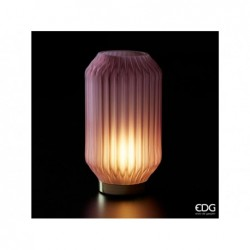 ENZO DE GASPERI Lampada bright rosa antico con base oro