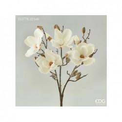 ENZO DE GASPERI Cespuglio magnolia h46cm 4 fiori ivory