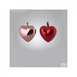 ENZO DE GASPERI Decorazione cuore vetro ø10cm rosa/oro 2ass.