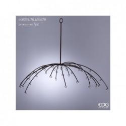 ENZO DE GASPERI Espositore ombrello h56x d.70 marrone