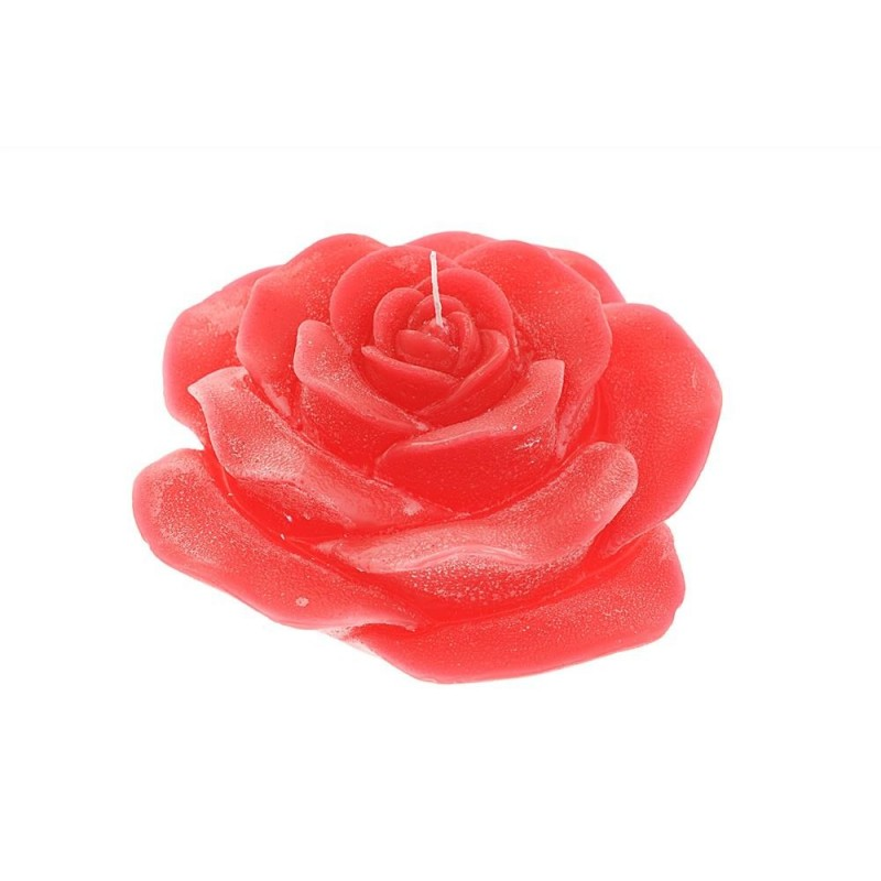 MERCURY Candela rossa profumata con rosa øcm22
