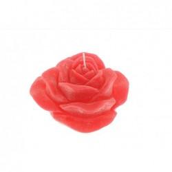 MERCURY Candela rossa profumata con rosa øcm15