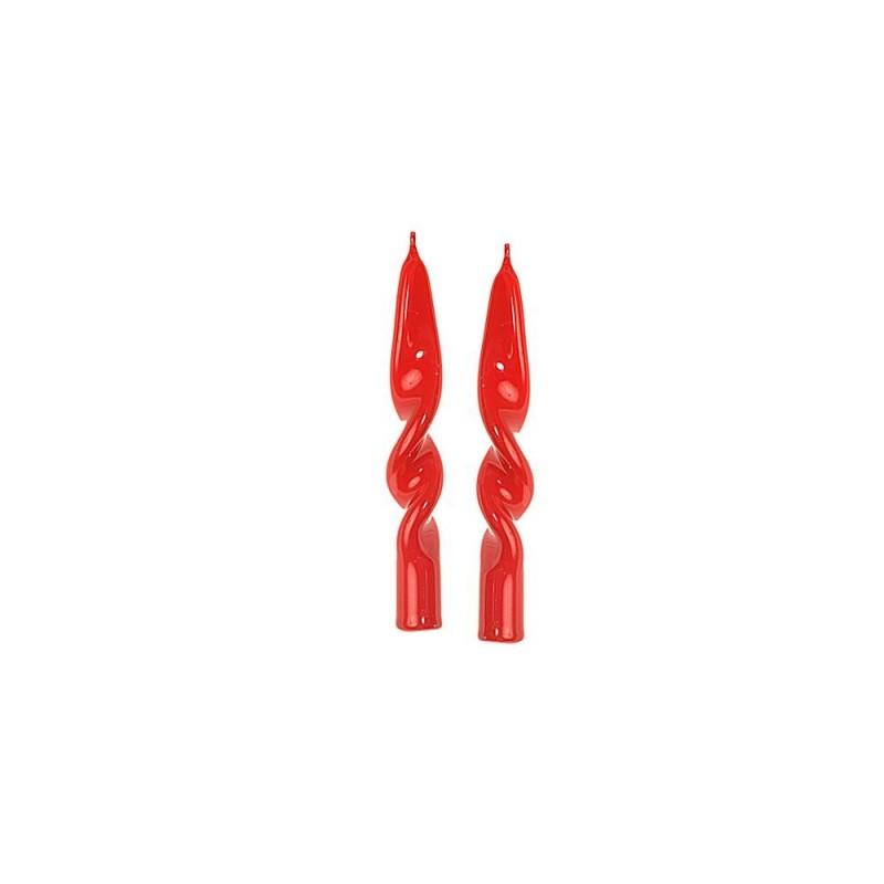MERCURY Set 2 candele fiamma lucid h cm 14 x d 2 colore rosso