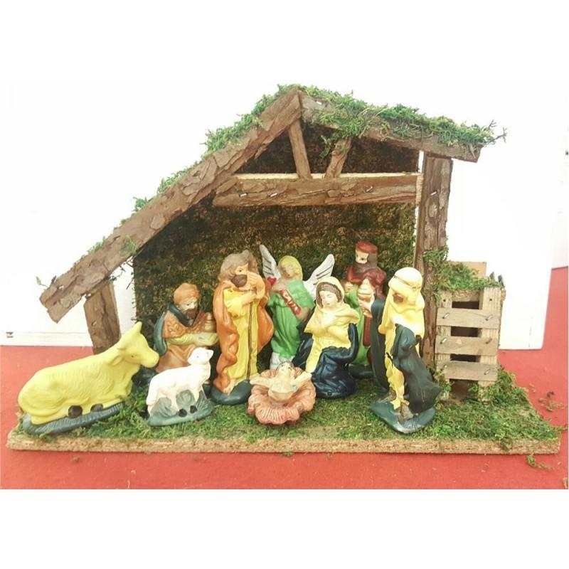 MERCURY Corona dietroporta natalizia in legno decapato bianco