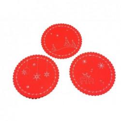 MERCURY Sottopiatto decorato in pannolenci d.cm 32 colore rosso
