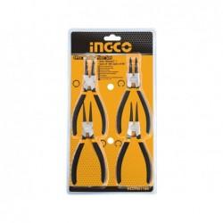 INGCO Set 4 pinze di precisione