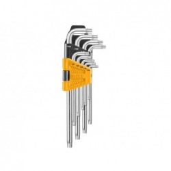 INGCO Set 9 chiavi torx con foro corte