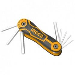 INGCO Set 8 chiavi esagonali pocket