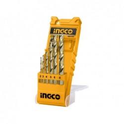 INGCO Set 6 punte trapano metallo in box