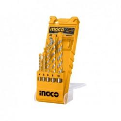 INGCO Set 5 punte trapano muratura in box