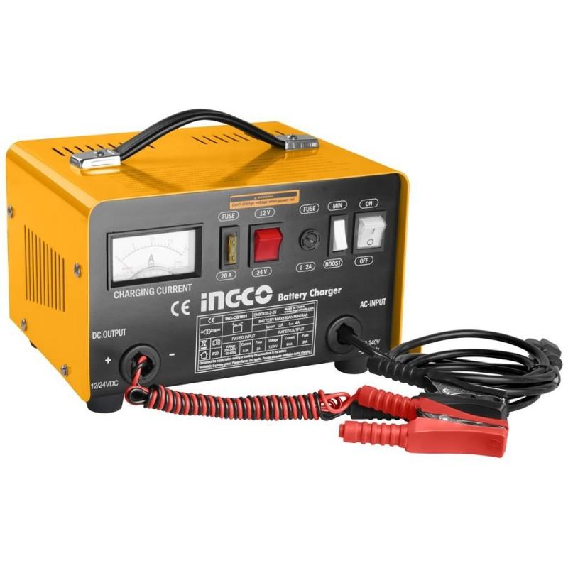 INGCO Caricabatterie portatile 12/24v 28-180ah