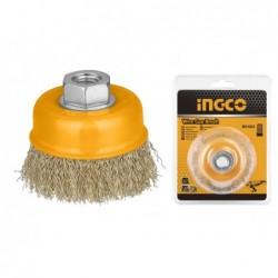 INGCO Spazzola a tazza con filo ondulato ø125 mm bl