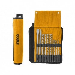 INGCO Set 10pz punte e scalpelli sds plus