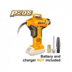 INGCO Compressore auto batteria litio 20V 10bar nudo