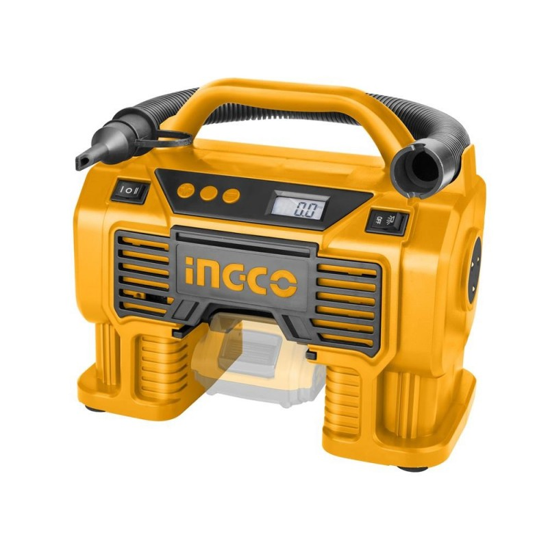 INGCO Compressore auto batteria litio 20V 11bar nudo
