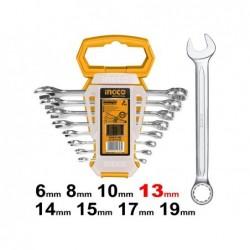 INGCO Set 8 chiavi fisse/stella 6-19mm