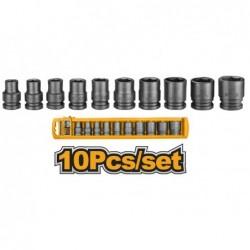 INGCO Set 10pz bussole ad impatto 1/2poll. 10-24