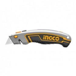 INGCO Cutter professionale 19x61mm con 6 lame a trapezio