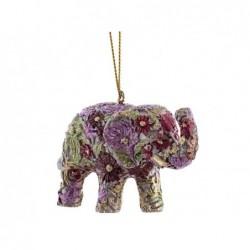 XONE Pendente a forma di elefante champagne e rosa 6cm decorato a mano