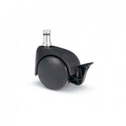 AVO VALSECCHI Ruota da 50mm in termoplastico nero con freno e perno a innesto