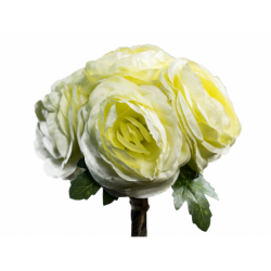 XONE Ranuncolo bouquet h25cm colore giallo chiaro