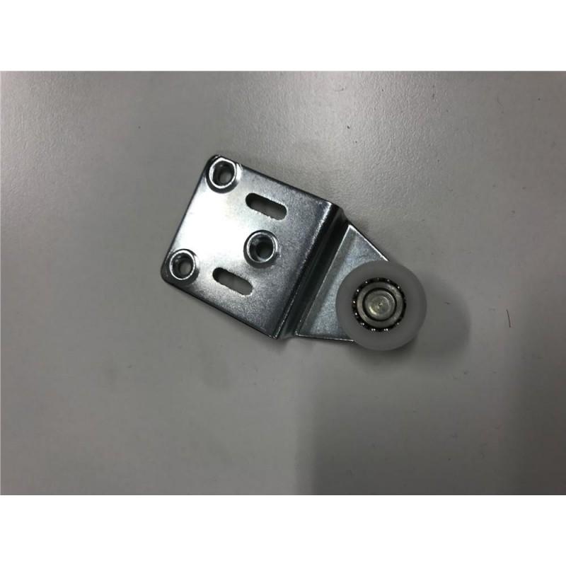 PETTITI Carrello acciaio zincato1 ø24mm con staffa in nylon