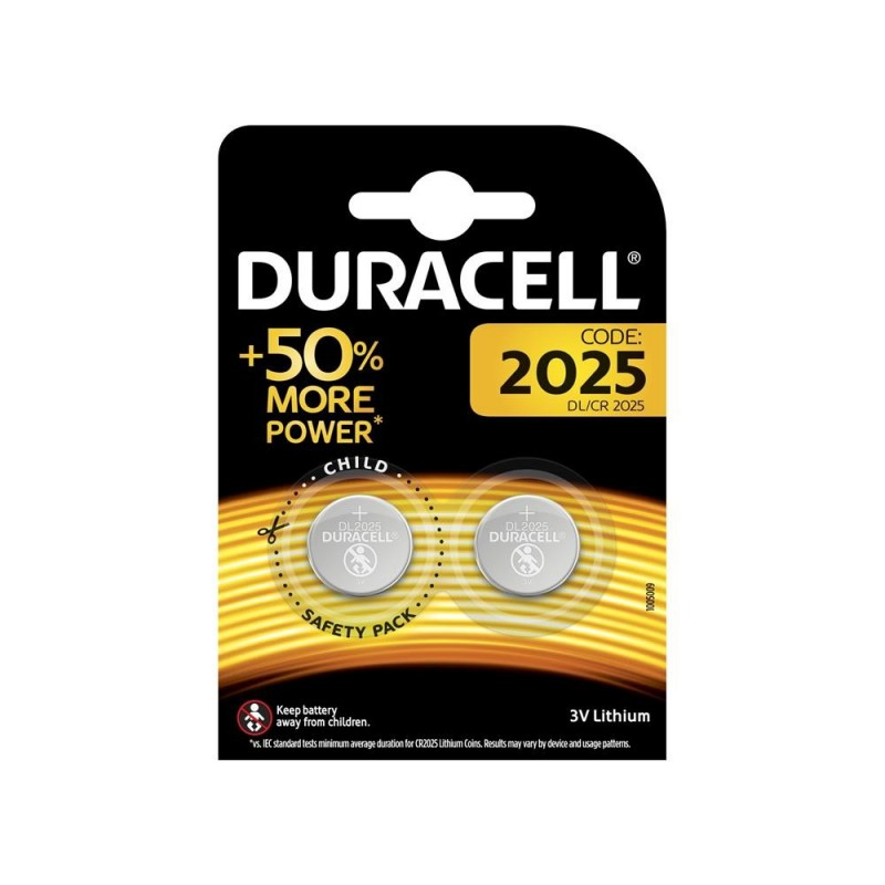 DURACELL Batteria cr2025 blister 2pz