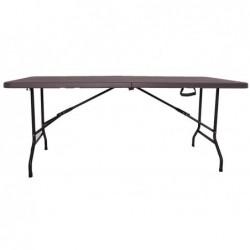 XONE Tavolo pieghevole stampo legno dark