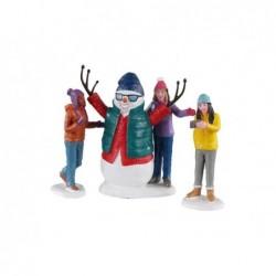 LEMAX Pupazzo neve selfie set 3 pezzi-Snowman Selfie Set of 3