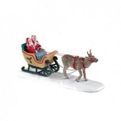 LEMAX Slitta babbo natale family-North Pole Sleigh Ride