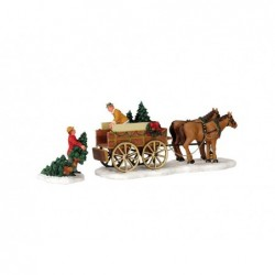 LEMAX Venditore alberi di Natale-Christmas tree wagon