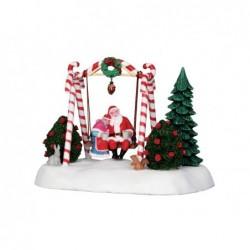 LEMAX Babbo e Mamma Natale su dondolo - Santa Swing