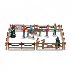 LEMAX Recinto con renne-Reindeer petting zoo