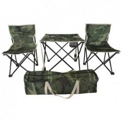 XONE Set camping camouflage con sacca trasporto