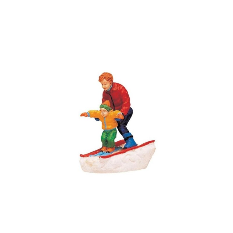 LEMAX Padre e figlio che sciano-Father e Son Skiing