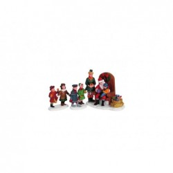 LEMAX Visita a Babbo Natale set 3 pz-Visiting Santa Set of 3