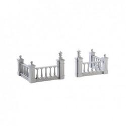 LEMAX Recinto della piazza-Plaza Fence set of 4