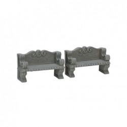 LEMAX Panchine di pietra-Stone Bench