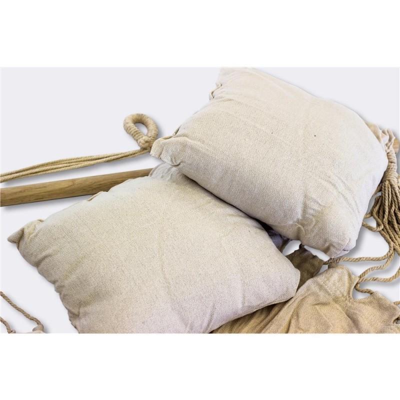 XONE Amaca sospesa ecru con 2 cuscini