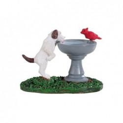 LEMAX Cane e uccellino alla fontana-Bird Bath dog fountain