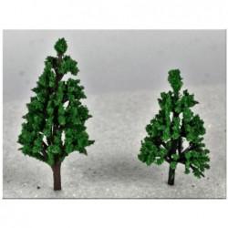 ROSSI ROSA Albero verde ad innesto cm 5,5 per presepe