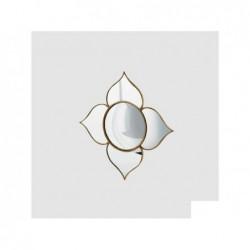 ENZO DE GASPERI Specchio fiore convesso oro