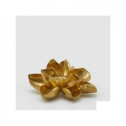 ENZO DE GASPERI Portacandela magnoglia oro