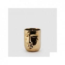 ENZO DE GASPERI Vaso faccia oro h17 cm