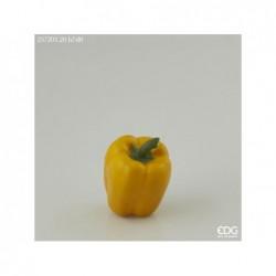 ENZO DE GASPERI Peperone h.7xd.8cm giallo