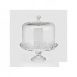 ENZO DE GASPERI Alzata con coperchio in vetro h33cm